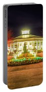 Garden Night Scene At Christmas Time In The Carolinas Portable Battery Charger