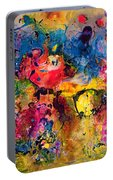 Garden Of Heavenly And Earthly Delights Portable Battery Charger