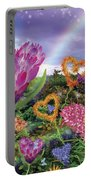 Garden Of Love 2 Portable Battery Charger by Alixandra Mullins
