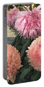 Garden Of Mixed Pink Chrysanthemums Portable Battery Charger