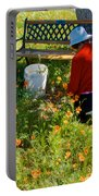 Garden Party In Park Sierra-ca Portable Battery Charger