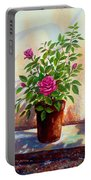 Garden Roses Portable Battery Charger