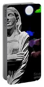 Garden Statue At Night Portable Battery Charger