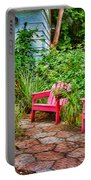 Garden Treasures At Aunt Eden's By Diana Sainz Portable Battery Charger