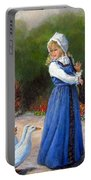 Garden Visitors Portable Battery Charger by Donna Tucker