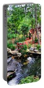 Garden Waterfall And Pond Portable Battery Charger