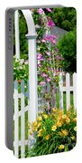 Garden With Picket Fence Portable Battery Charger