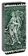 Gardening And Horticulture Vintage Postage Stamp Print Portable Battery Charger