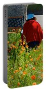 Gardening Distractions In Park Sierra-california Portable Battery Charger