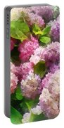 Gardens - Pink And Lavender Hydrangea Portable Battery Charger