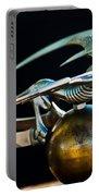 Gargoyle Hood Ornament Portable Battery Charger by Jill Reger
