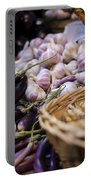 Garlic At The Market Portable Battery Charger by Heather Applegate