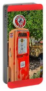 Gas Pump At Embudo Gas Museum Portable Battery Charger