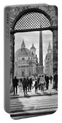 Gate To Piazza Del Popolo In Rome Portable Battery Charger