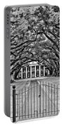 Gateway To The Old South Bw Portable Battery Charger by Steve Harrington