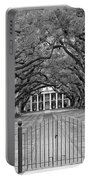 Gateway To The Old South Monochrome Portable Battery Charger by Steve Harrington