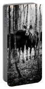 Gathering Of Moose Portable Battery Charger by Bob Orsillo