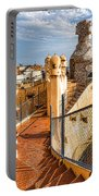 Gaudi Fascinating La Pedrera Rooftop - Impressions Of Barcelona Portable Battery Charger