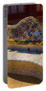 Gaudi's Park Guell Sinuous Curves - Impressions Of Barcelona Portable Battery Charger