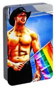Gay Pride Portable Battery Charger