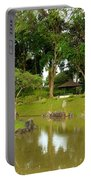 Gazebo Trees Lake And Rock Garden In Singapore Chinese Gardens Portable Battery Charger