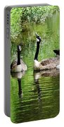 Geese And Green Portable Battery Charger