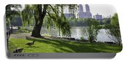 Geese In Central Park Nyc Portable Battery Charger