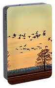 Geese In Flight I Portable Battery Charger
