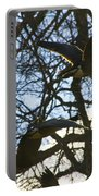 Geese In Twlight Sky Portable Battery Charger