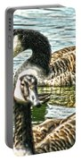 Geese On The Pond II Portable Battery Charger