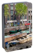 Geldersekade Canal In Amsterdam Portable Battery Charger