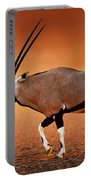 Gemsbok On Desert Plains At Sunset Portable Battery Charger