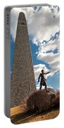 Gen. John Stark At The Bennington Battle Monument Portable Battery Charger
