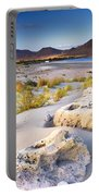 Genoveses Beach At Sunset Portable Battery Charger