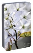 Gentle White Spring Flowers Portable Battery Charger