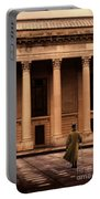 Gentleman In 18th Century Clothing Walking Portable Battery Charger