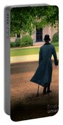 Gentleman Walking Towards A House Portable Battery Charger