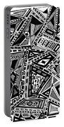 Geometric Doodle Portable Battery Charger