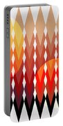 Geometric Fun Portable Battery Charger by Mark Ashkenazi