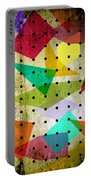 Geometric In Colors  Portable Battery Charger by Mark Ashkenazi