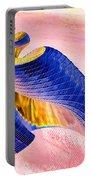 Geometric Shell Art Portable Battery Charger by Deborah Benoit