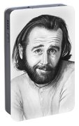 George Carlin Portrait Portable Battery Charger