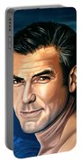 George Clooney 2 Portable Battery Charger by Paul Meijering