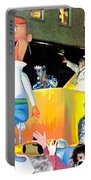 George Jetson Poster Portable Battery Charger