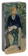 George Moore In The Artist's Garden Portable Battery Charger
