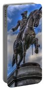 George Washington In The Public Garden - Boston Portable Battery Charger by Joann Vitali