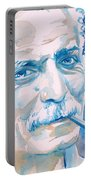Georges Brassens - Watercolor Portrait Portable Battery Charger