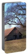 Georgia Barn In Winter Portable Battery Charger