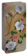 Georgia Flowers - Apple Blossoms- Stretched Portable Battery Charger