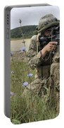 Georgian Army Sergeant Aims An M4 Portable Battery Charger